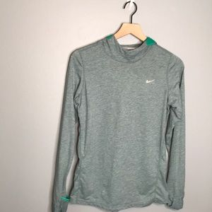 Nike | blue green dri-fit long sleeve shirt Large
